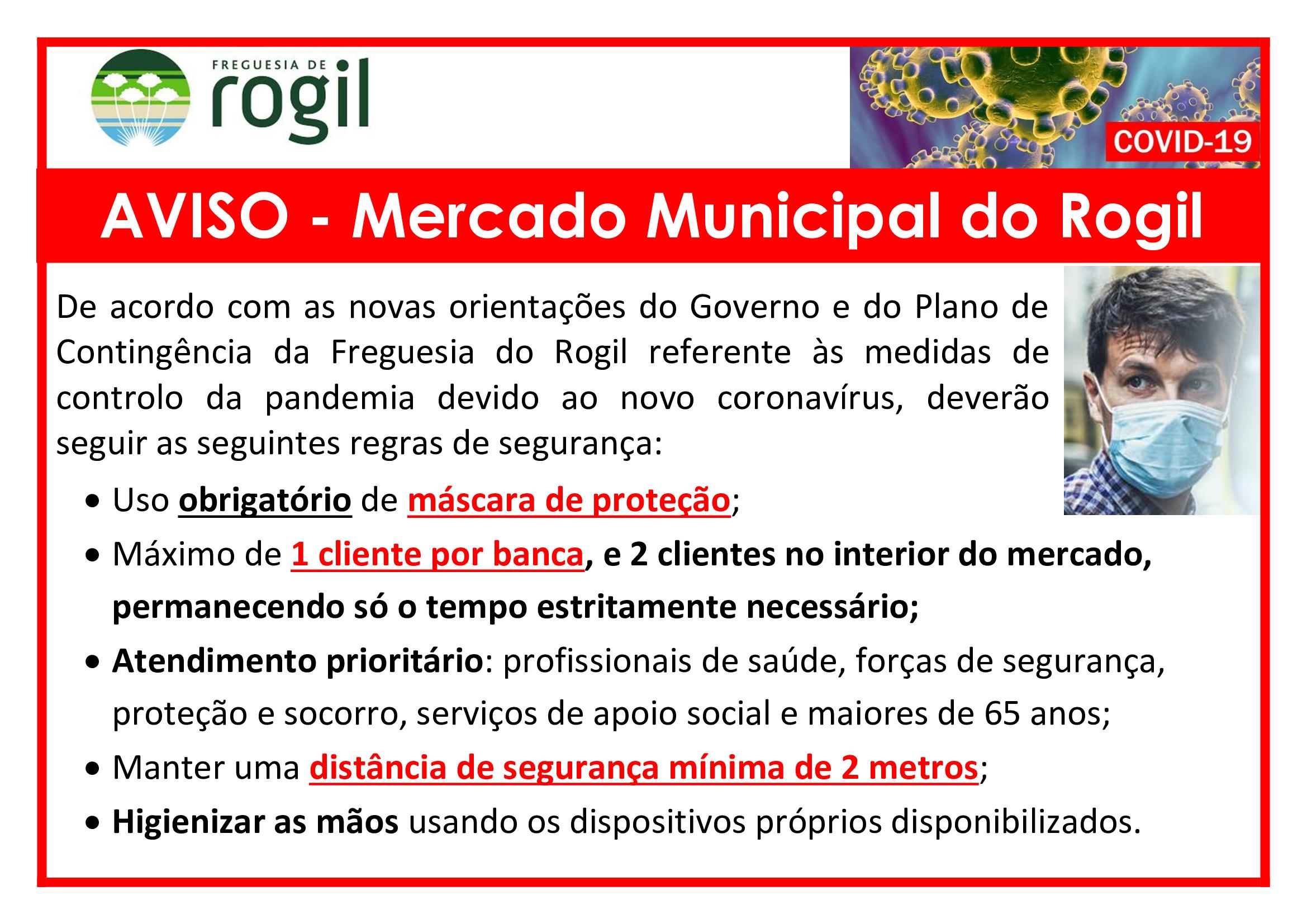 Aviso Mercado Municipal Rogil